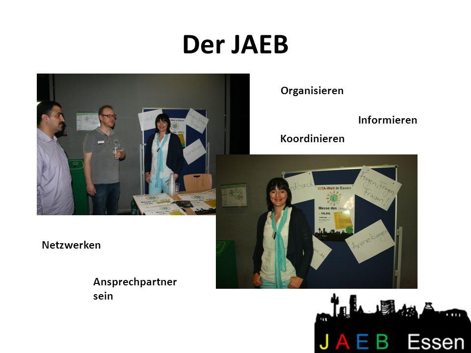 Der JAEB Ansprechpartner sein Organisieren Netzwerken Informieren Koordinieren