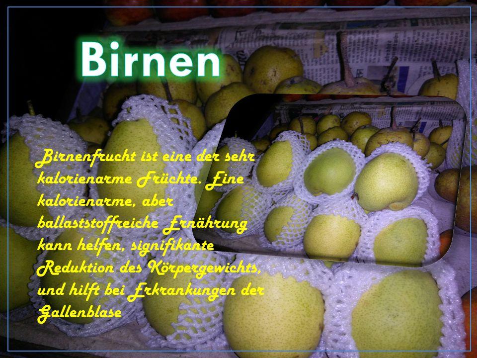 Birnenfrucht ist eine der sehr kalorienarme Früchte.
