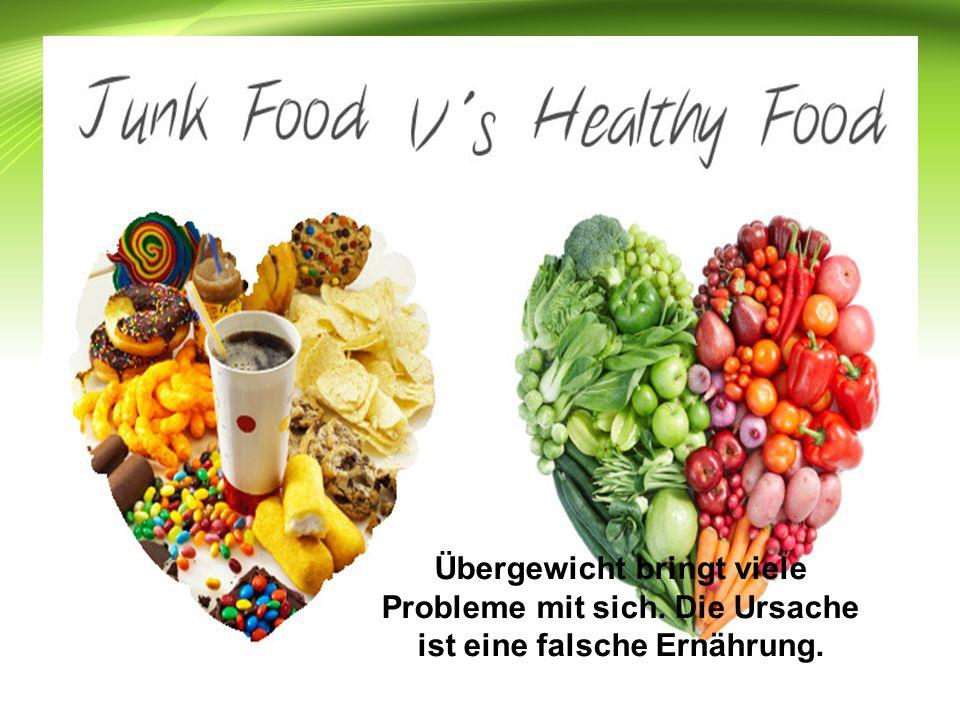 Übergewicht bringt viele Probleme mit sich. Die Ursache ist eine falsche Ernährung.