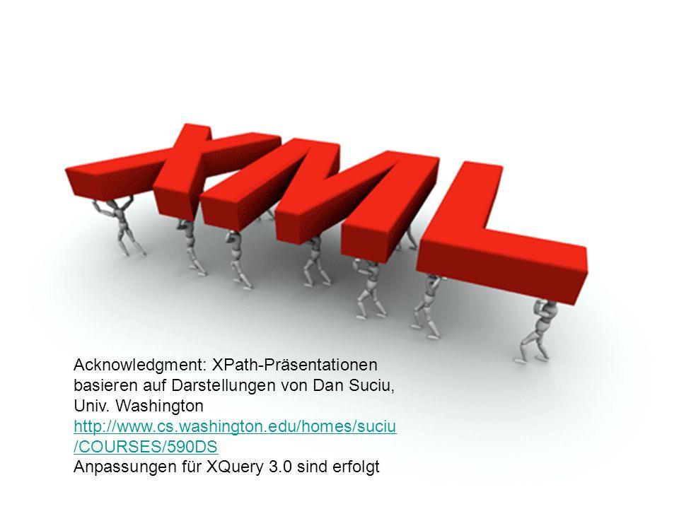 25 XML-Daten in Relationalen Datenbanken Verwendung eines generischen Schemas D.