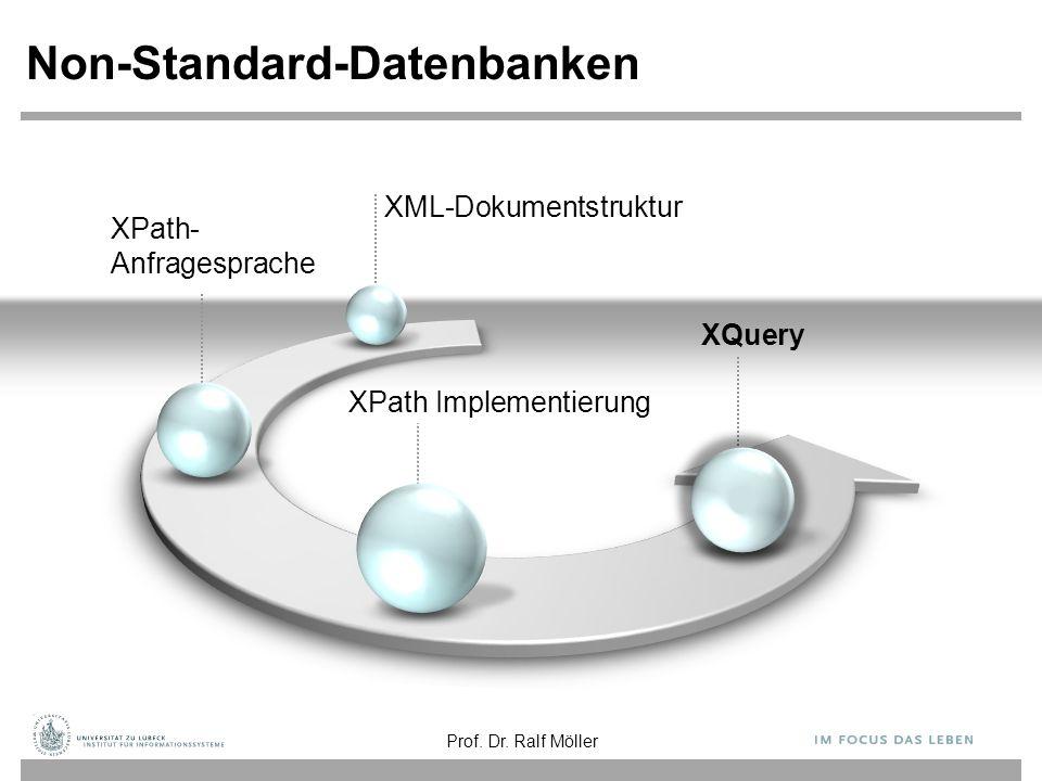 XPath- Anfragesprache Non-Standard-Datenbanken XPath Implementierung XQuery XML-Dokumentstruktur Prof.