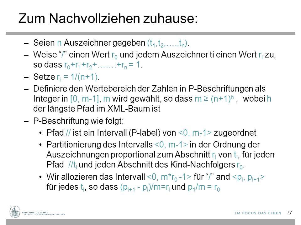 –Seien n Auszeichner gegeben (t 1,t 2,….,t n ).
