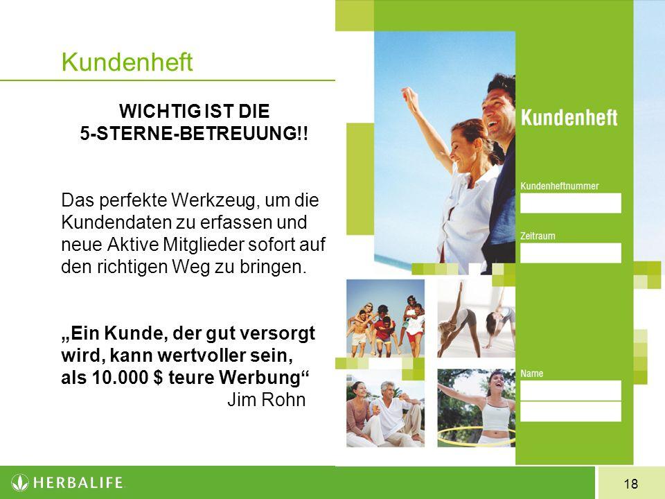 18 Kundenheft WICHTIG IST DIE 5-STERNE-BETREUUNG!.