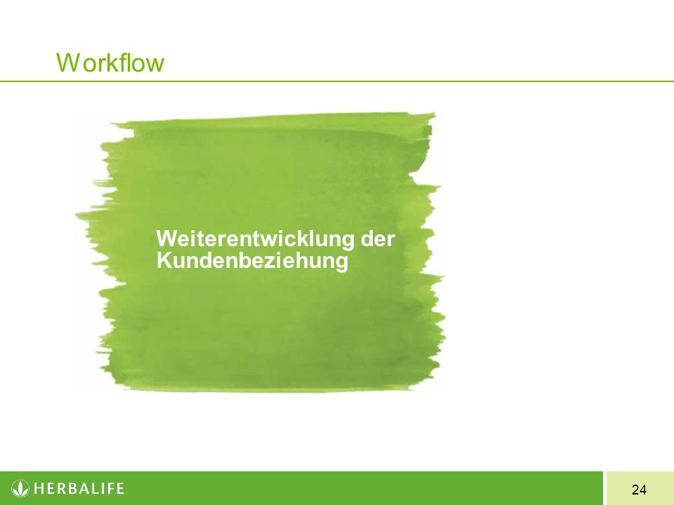 24 Workflow Weiterentwicklung der Kundenbeziehung