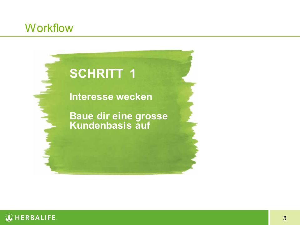 3 Workflow SCHRITT1 Interesse wecken Baue dir eine grosse Kundenbasis auf