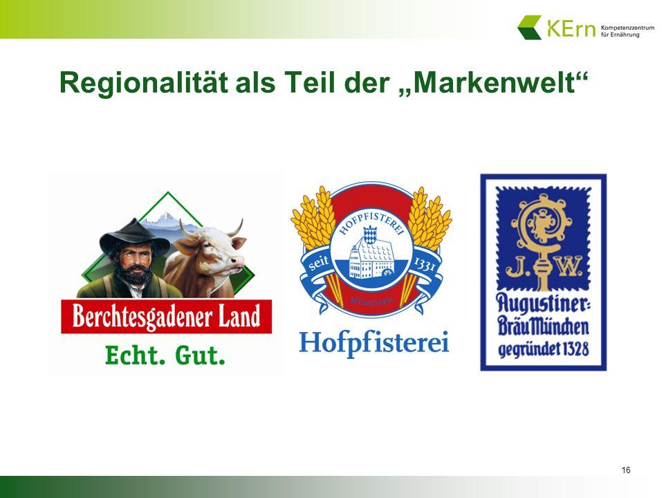 """16 Regionalität als Teil der """"Markenwelt"""