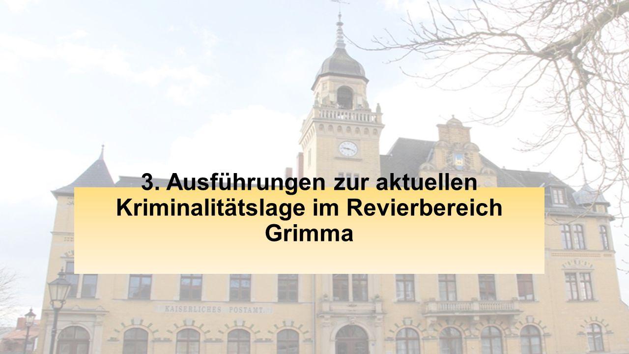 3. Ausführungen zur aktuellen Kriminalitätslage im Revierbereich Grimma