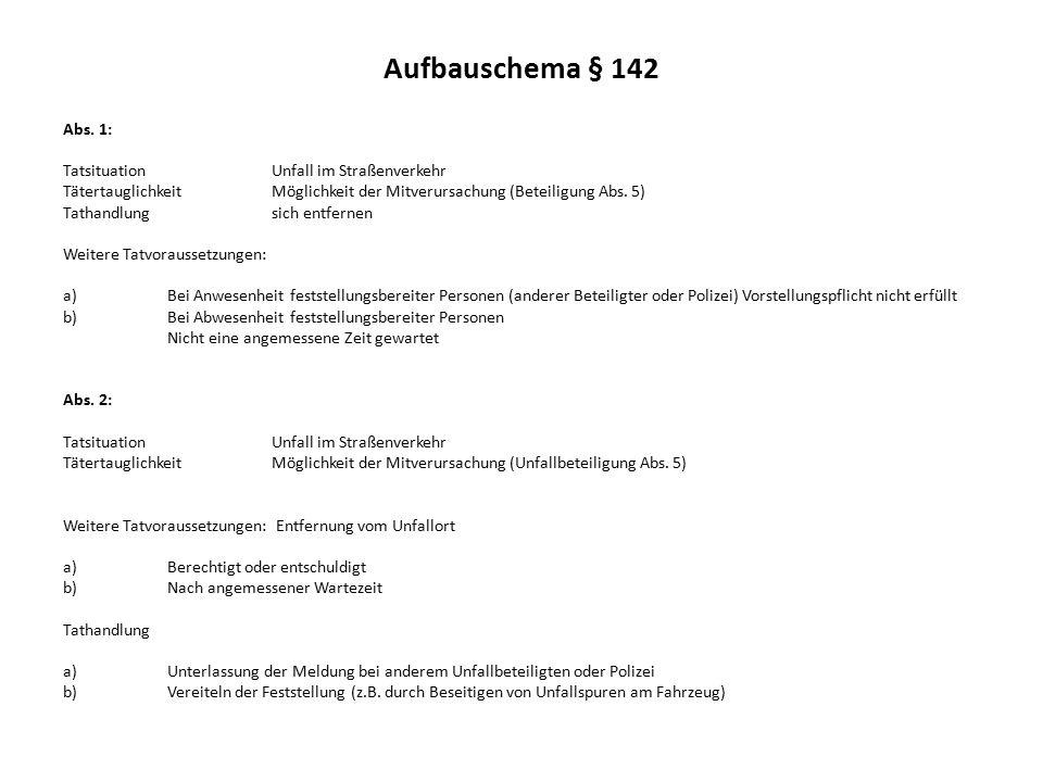 Aufbauschema § 142 Abs.