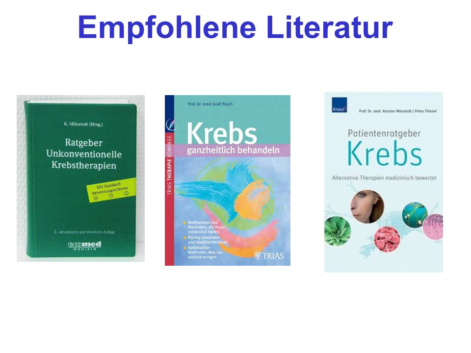 Empfohlene Literatur