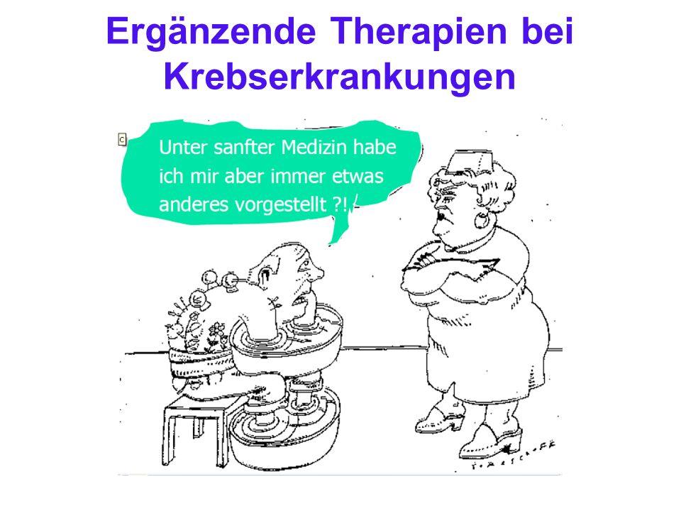 Ergänzende Therapien bei Krebserkrankungen