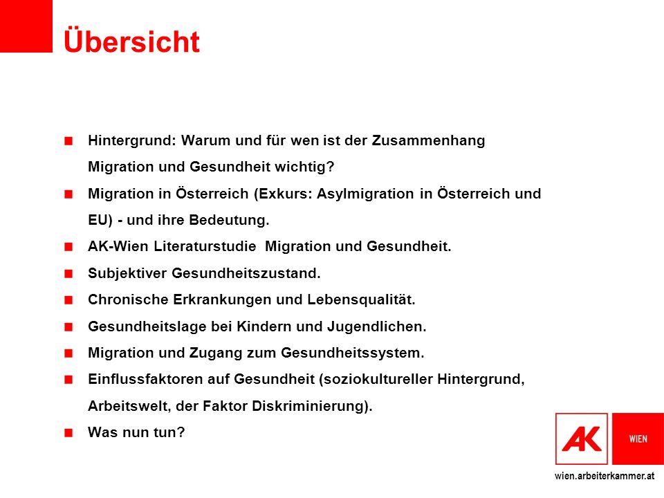 wien.arbeiterkammer.at Übersicht Hintergrund: Warum und für wen ist der Zusammenhang Migration und Gesundheit wichtig.