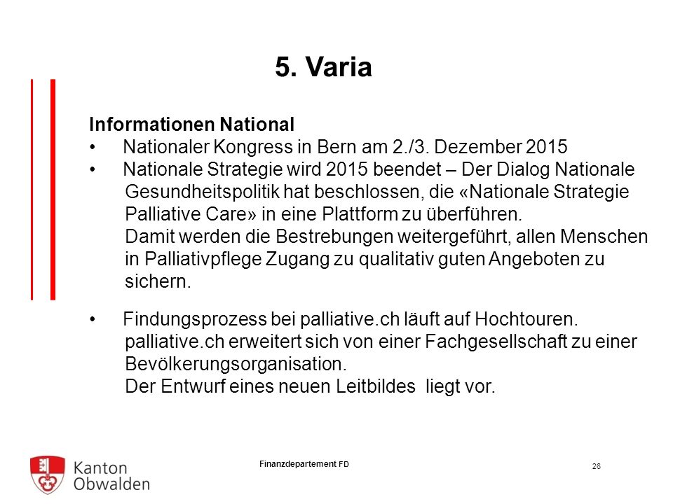 Finanzdepartement FD Informationen National Nationaler Kongress in Bern am 2./3.