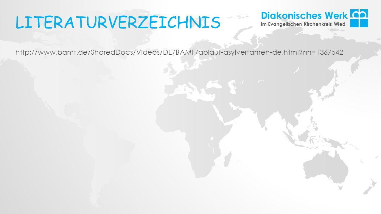 Diakonisches Werk im Evangelischen Kirchenkreis Wied http://www.bamf.de/SharedDocs/Videos/DE/BAMF/ablauf-asylverfahren-de.html?nn=1367542 LITERATURVER