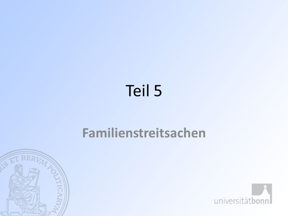 (3) nachehelicher Unterhalt - § 1569 ff.