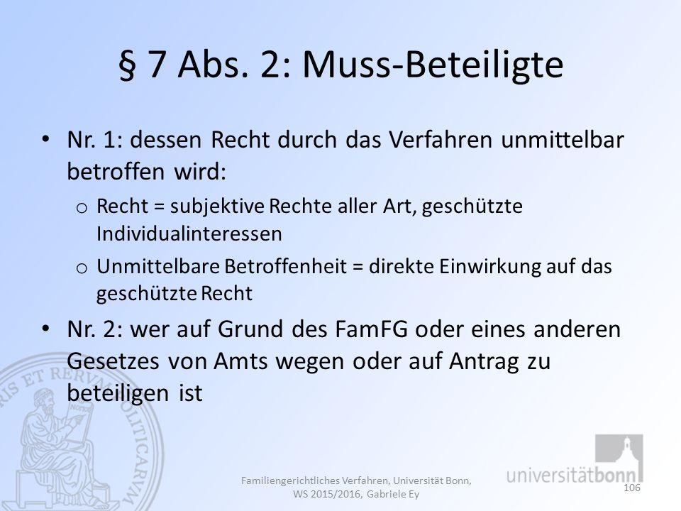 § 7 Abs.2: Muss-Beteiligte Nr.