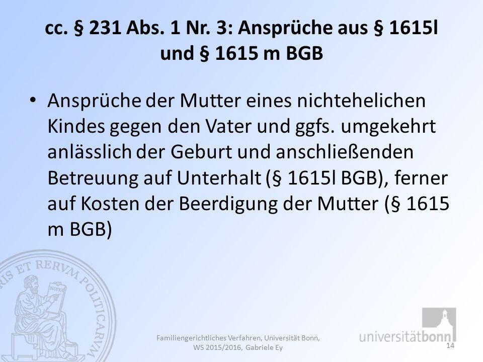 cc.§ 231 Abs. 1 Nr.