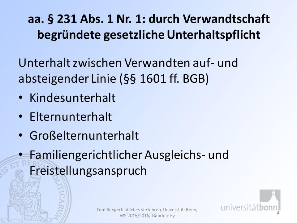 aa.§ 231 Abs. 1 Nr.