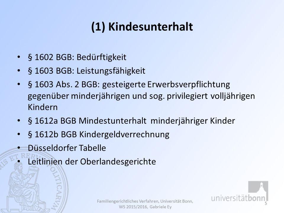 3.Ausschluss der Vertretung nach dem BGB:  § 1629 Abs.