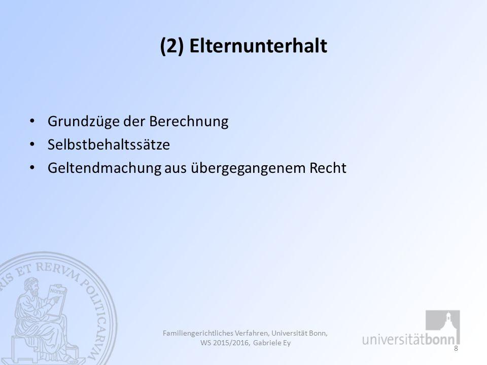 Familiengerichtliches Verfahren, Universität Bonn, WS 2012/2013, Gabriele Ey 19
