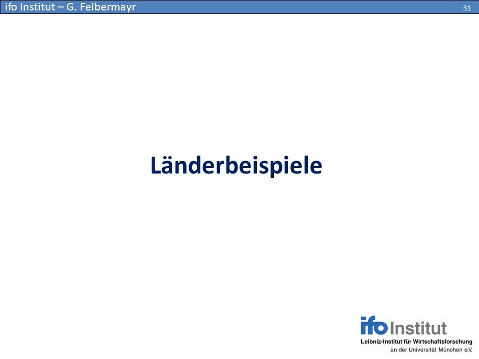 Länderbeispiele 31 ifo Institut – G. Felbermayr 31
