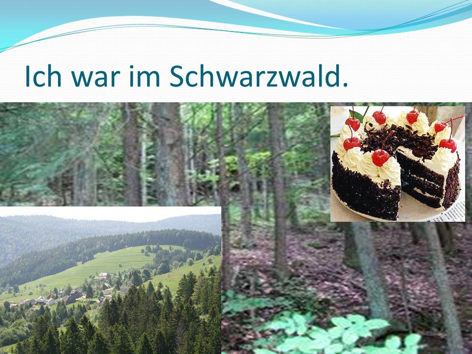Ich war im Schwarzwald.