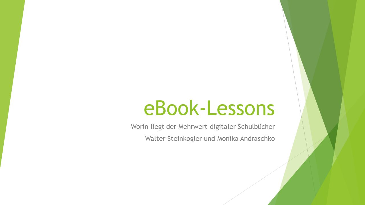 "From paper-based to web-based Where are we.- Digitale ""Bücher ."
