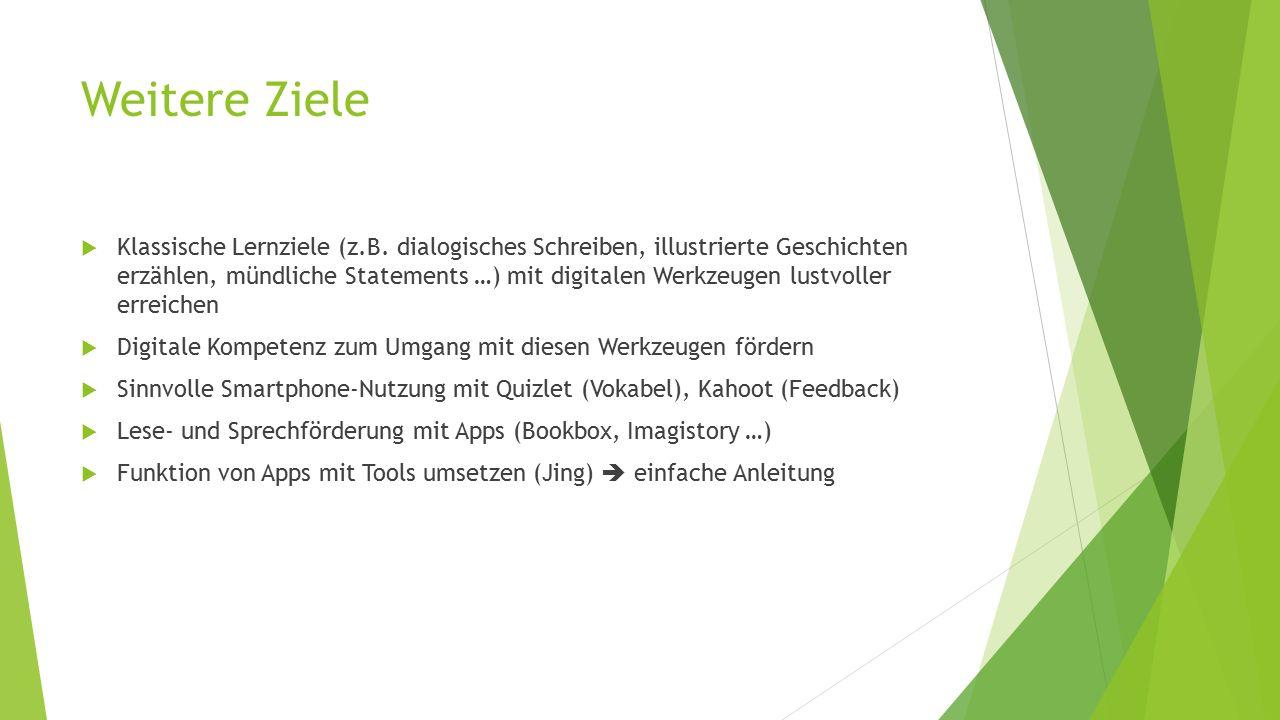 Weitere Ziele  Klassische Lernziele (z.B.