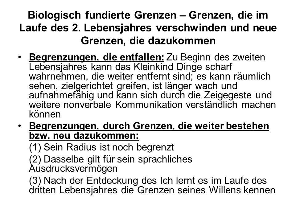 Biologisch fundierte Grenzen – Grenzen, die im Laufe des 2.