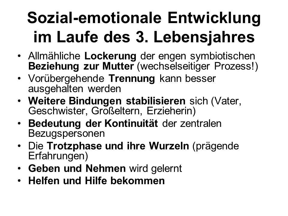 Sozial-emotionale Entwicklung im Laufe des 3.
