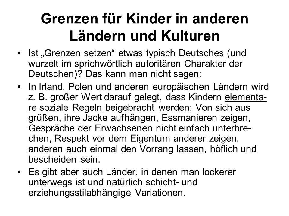 """Grenzen für Kinder in anderen Ländern und Kulturen Ist """"Grenzen setzen"""" etwas typisch Deutsches (und wurzelt im sprichwörtlich autoritären Charakter d"""