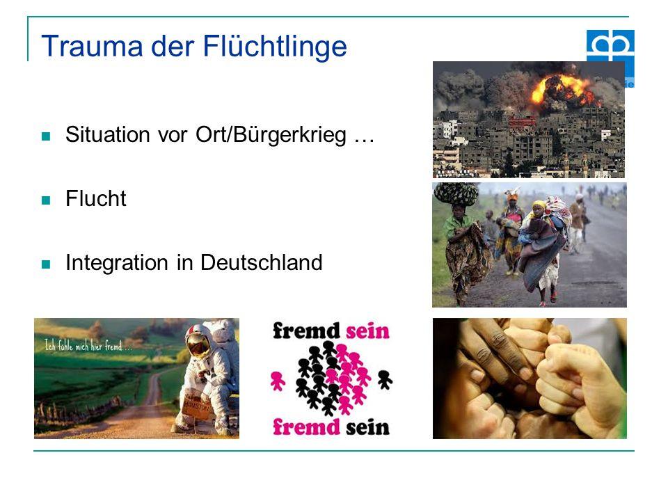 Trauma der Flüchtlinge Situation vor Ort/Bürgerkrieg … Flucht Integration in Deutschland