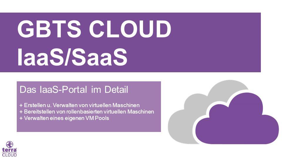 GBTS CLOUD IaaS/SaaS Das IaaS-Portal im Detail + Erstellen u. Verwalten von virtuellen Maschinen + Bereitstellen von rollenbasierten virtuellen Maschi