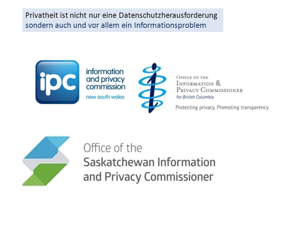 Privatheit ist nicht nur eine Datenschutzherausforderung sondern auch und vor allem ein Informationsproblem