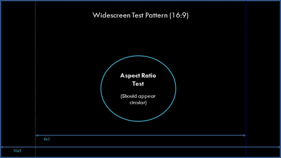 Widescreen Test Pattern (16:9) Aspect Ratio Test (Should appear circular) 16x9 4x3