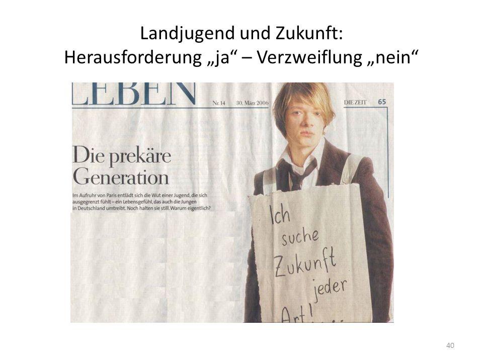 """Landjugend und Zukunft: Herausforderung """"ja"""" – Verzweiflung """"nein"""" 40"""