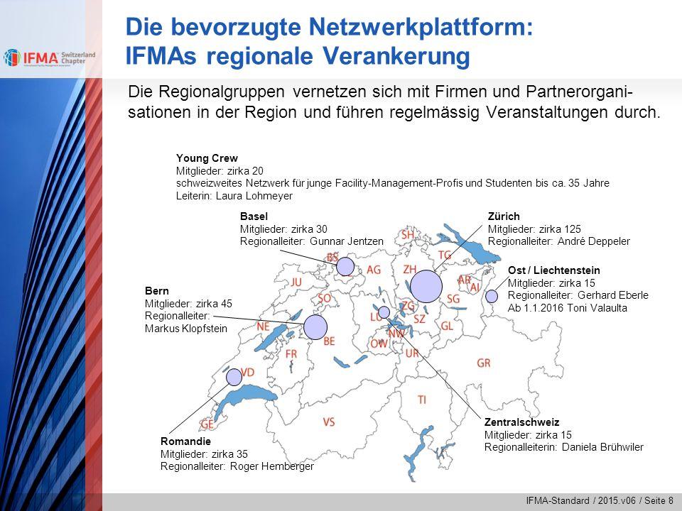IFMA-Standard / 2015.v06 / Seite 8 Die bevorzugte Netzwerkplattform: IFMAs regionale Verankerung Die Regionalgruppen vernetzen sich mit Firmen und Par