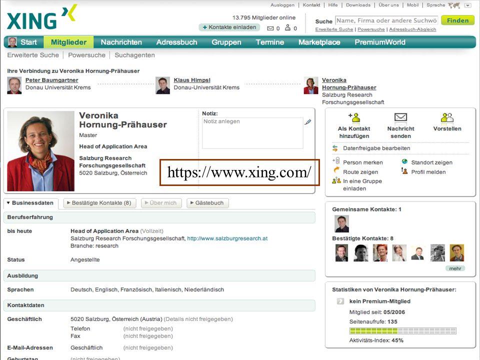 Donau-Universität Krems Department für Interaktive Medien und Bildungstechnologien Oktober 2015Peter Baumgartner42 https://www.xing.com/