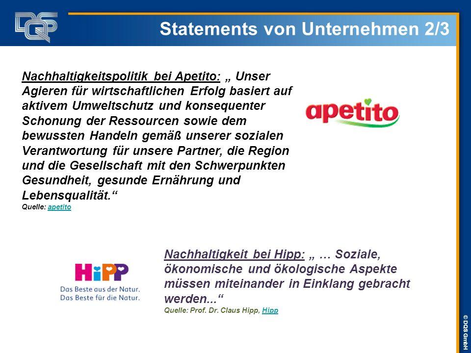 """© DQS GmbH Statements von Unternehmen 3/3 Nachhaltigkeitsmanagement bei IKEA Deutschland: """"Mensch und Umwelt zu achten ist keine Konsequenz des Erfolgs – sondern die Voraussetzung dafür, ein erfolgreiches Unternehmen zu sein. Quelle: IKEA Nachhaltigkeitsbericht 2009Nachhaltigkeitsbericht Nachhaltigkeitsstrategie bei COCA-COLA Deutschland: """"Im Jahr 2020 werden Verbraucher ihre Entscheidung nicht mehr nur von Geschmack und Qualität unserer Getränke abhängig machen, sondern in gleichem Maße auch von unserem Charakter als Hersteller. Quelle: Muhtar Kent CEO TCCC der Coca-ColaCoca-Cola"""