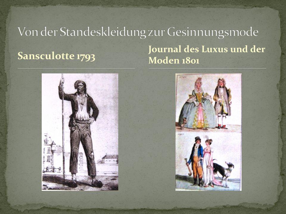 Sansculotte 1793 Journal des Luxus und der Moden 1801