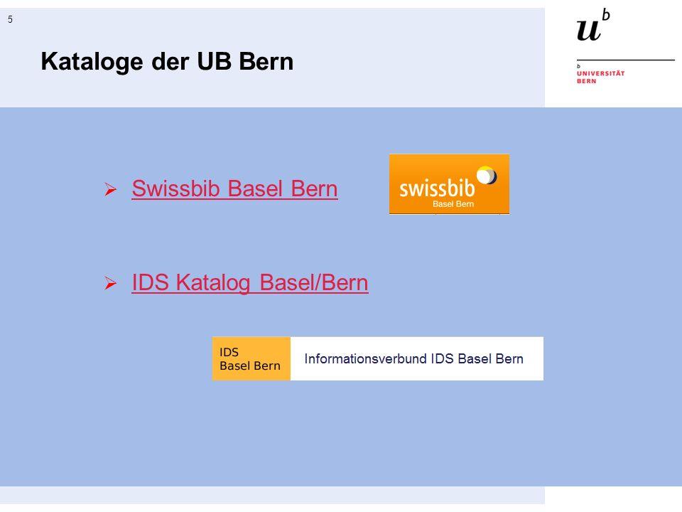 swissbib Basel Bern 6 Suchschlitz für einfache Suche
