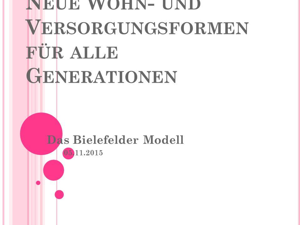 N EUE W OHN - UND V ERSORGUNGSFORMEN FÜR ALLE G ENERATIONEN Das Bielefelder Modell 05.11.2015