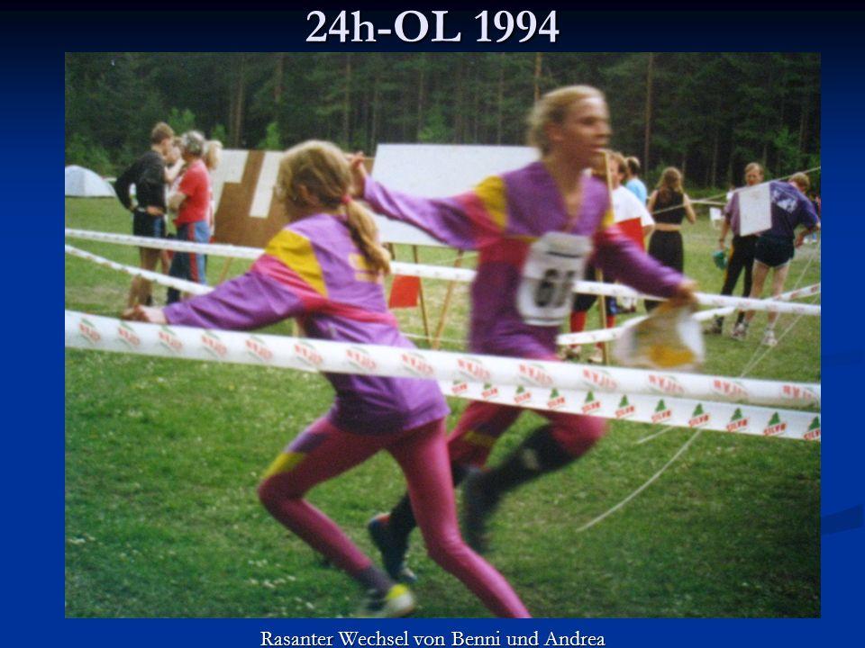 24h-OL 1994 Rasanter Wechsel von Benni und Andrea