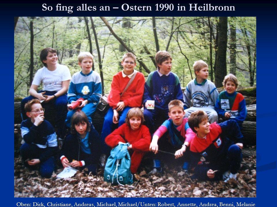 D-Cup Kassel 2000 Joseph, Felix, Leif, Katharina und Michael vor einem wunderschönen Panorama
