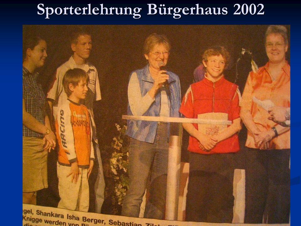 Sporterlehrung Bürgerhaus 2002