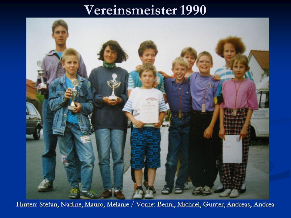 DM-Staffel 1995 Unsere Schülermeister – ja sie waren auch mal jung.