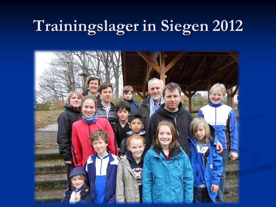 Trainingslager in Siegen 2012