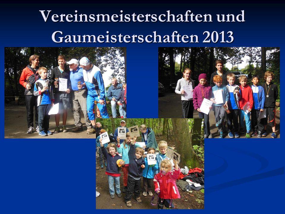 Vereinsmeisterschaften und Gaumeisterschaften 2013