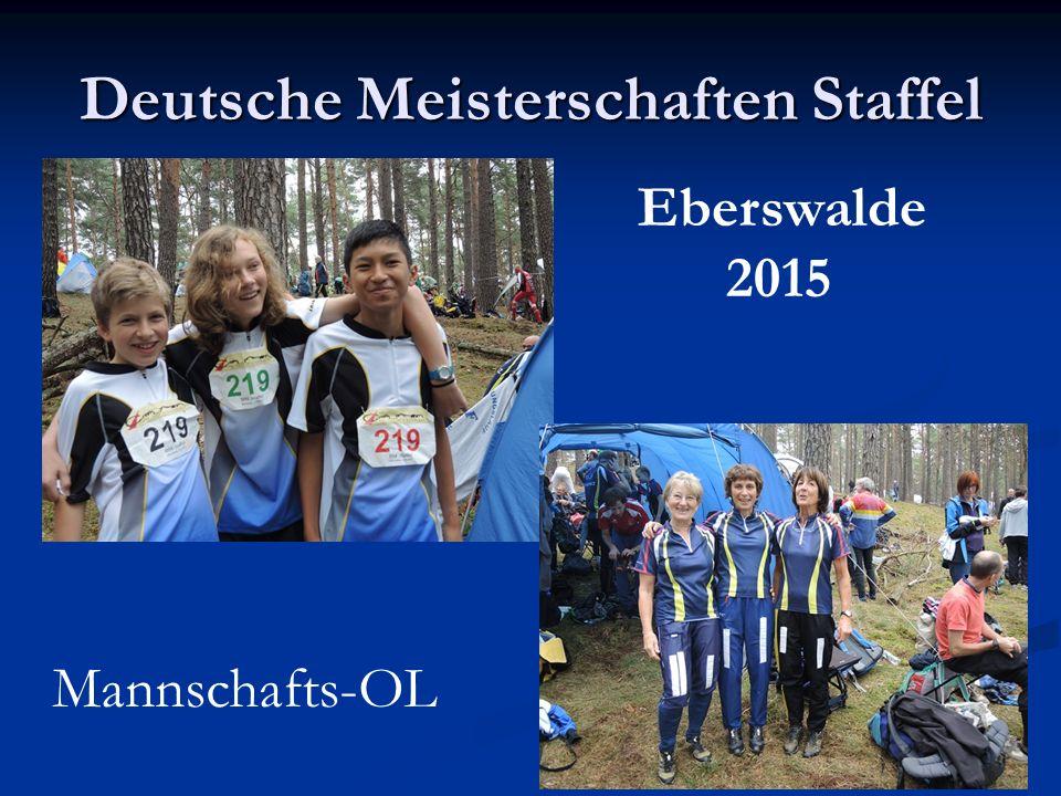 Deutsche Meisterschaften Staffel Eberswalde 2015 Mannschafts-OL