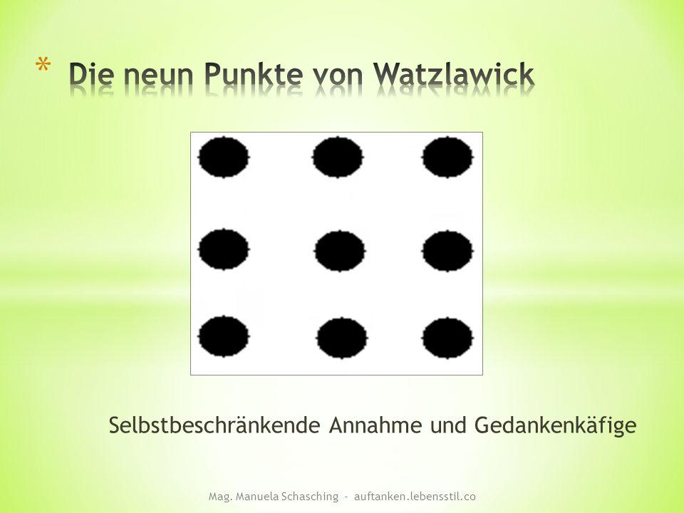 Selbstbeschränkende Annahme und Gedankenkäfige Mag. Manuela Schasching - auftanken.lebensstil.co
