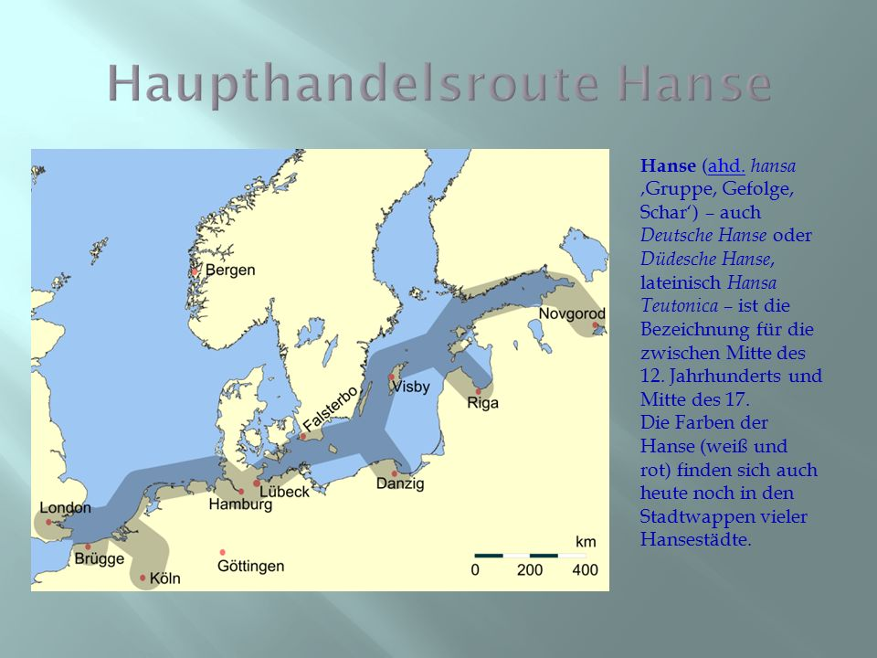 Hanse (ahd. hansa 'Gruppe, Gefolge, Schar') – auch Deutsche Hanse oder Düdesche Hanse, lateinisch Hansa Teutonica – ist die Bezeichnung für die zwisch